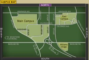 Map of University of Colorado