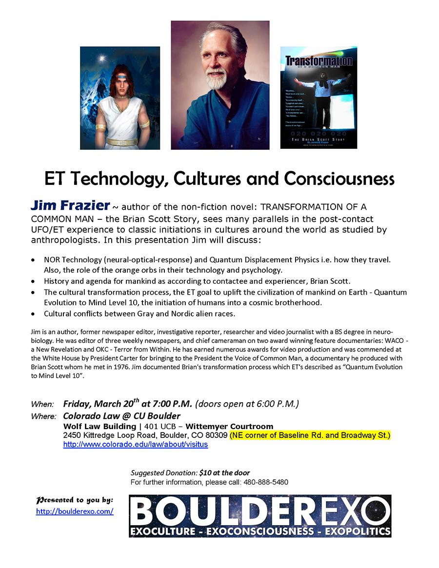 Jim Frazier ET Technology, Cultures & Consciousness